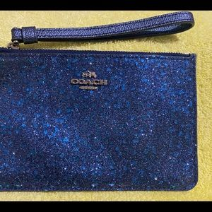 Sparkle Blue coach wristlet